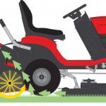 lawn mower with collector illustration