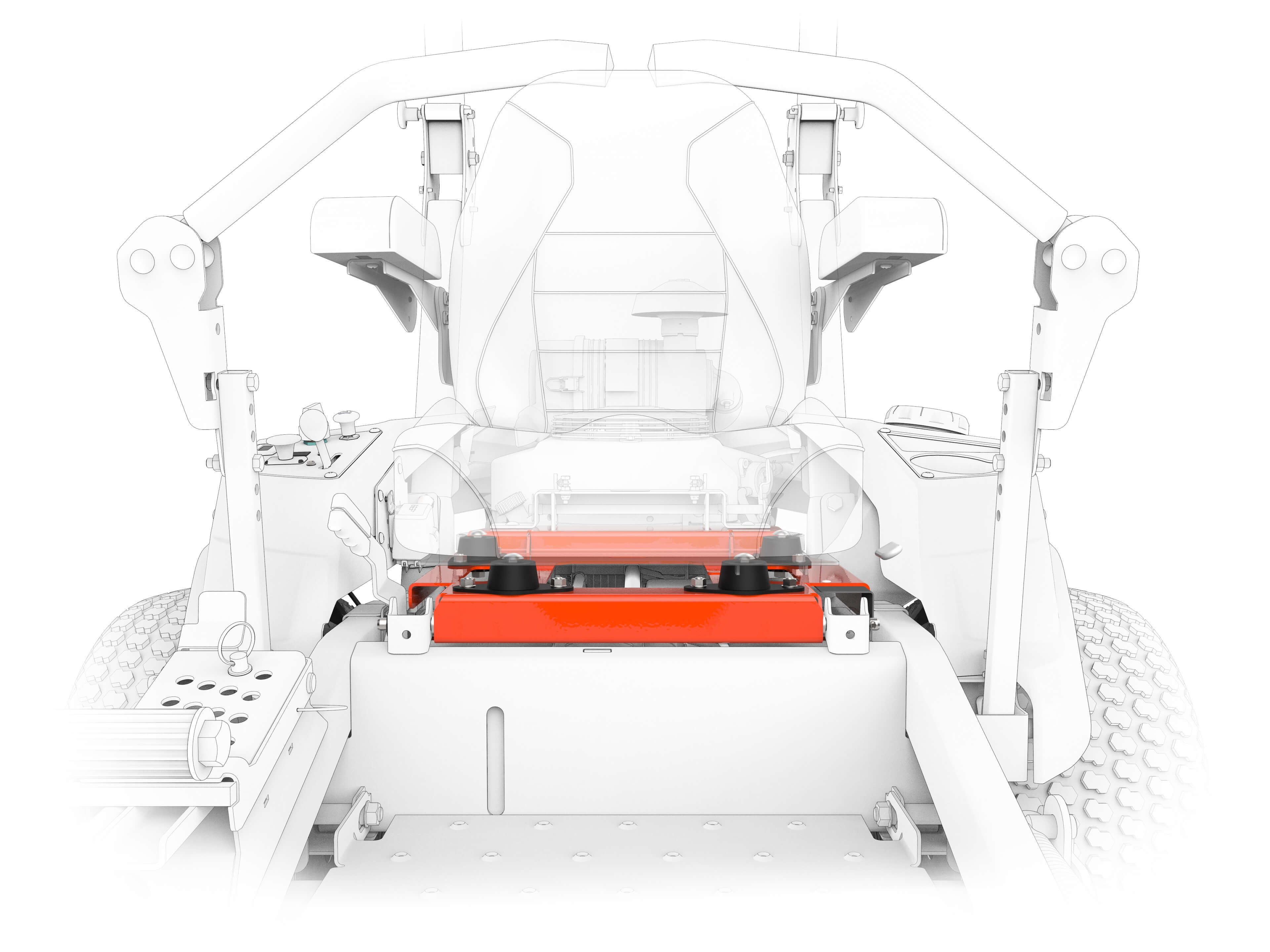 Zero turn Zenith 60 - Seat Isolator
